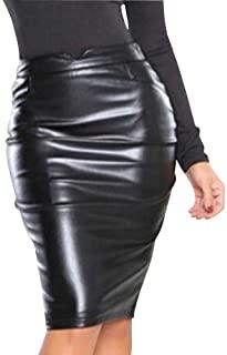 Gladiolus Mujeres Vintage Falda Midi Lápiz Cintura Alta Elasticidad Bodycon Tubo Falda Oficina