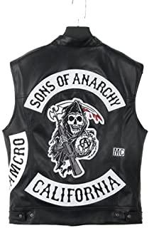 Chaqueta de Cuero sin Mangas - Style Sons of Anarchy - Chaqueta de Cuero