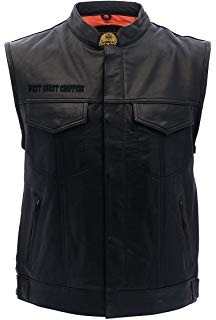 West Coast Choppers OG Cross Leather Riding Vest