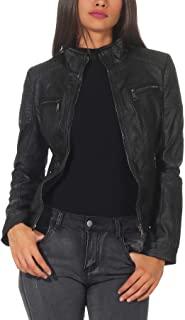 chaqueta cuero negro