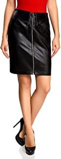 falda negra con cremallera casual