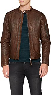 JACK & JONES PREMIUM Jprrichard Clean Leather Jacket STS Chaqueta para Hombre
