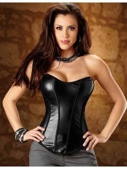 corset de cuero negro