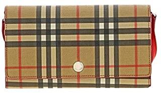 Bolso cartera Burberry para mujer de piel auténtica y tejido Check