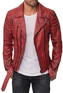 cazadorta roja zalando 2020Reich Ciudad Hombre Biker Chaqueta Desmontable Cinturón