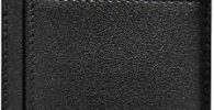 Voneta - Tarjetero de Bloqueo RFID, Cartera de Piel Fina Minimalista con Caja de Regalo, Capacidad para 7 Tarjetas de Dinero en Efectivo y facturas Negro Negro Negro