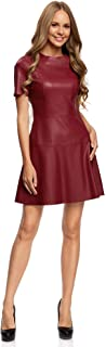 vestido de piel color rojo 2020