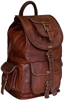 Mochila vintage de cuero unisex | Hecho a mano | Mochila de senderismo | Bolsa de viaje | Bolsa escolar | Envío gratis mochila de cuero zara hombre