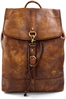 Mochila de piel vintage mochila piel lavada mochila hombre mujer mochila de viaje mochila de cuero mochila sport bolso de espalda piel marron 2020 zara