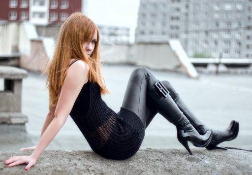 botas caña alta cuero