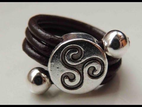 anillos de cuero artesanales