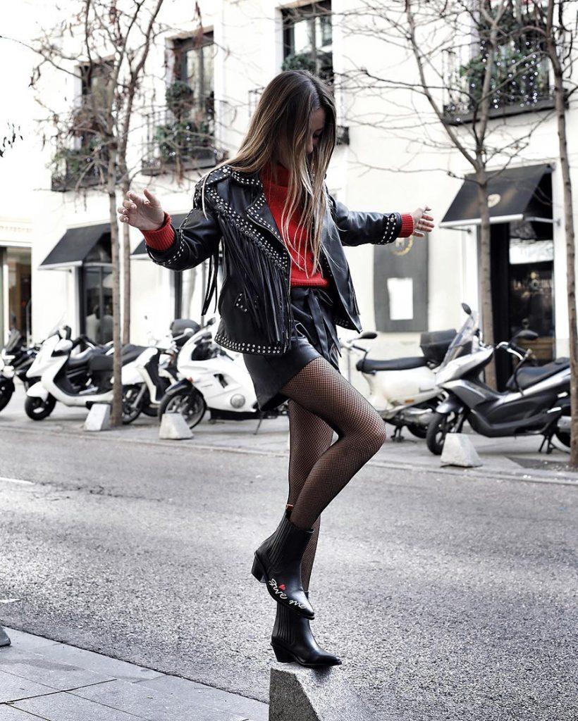 shorts de cuero zara