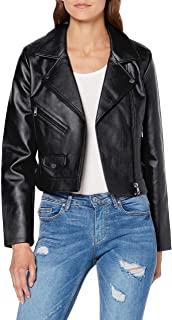 chaqueta cuero mujer moto