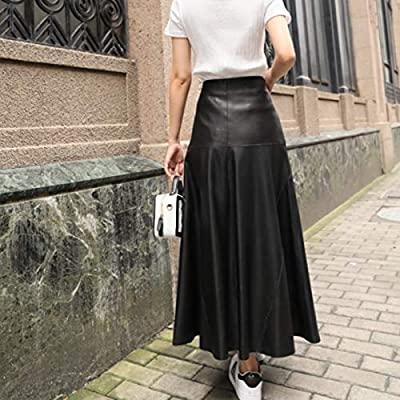 falda de cuero larga