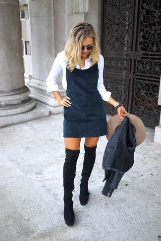 vestido de cuero outfits