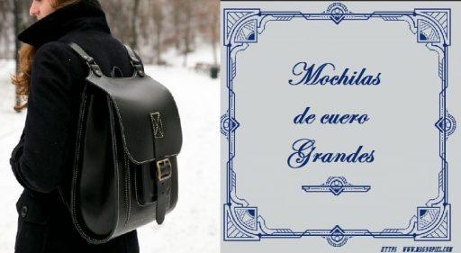 mochilas de cuero mujer grandes
