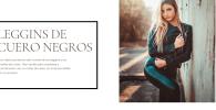 LEGGINS DE CUERO NEGRO